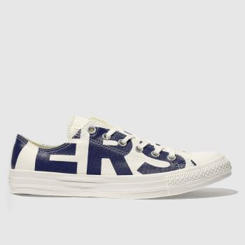 Converse Natural All Star Wordmark Ox Mens Trainers