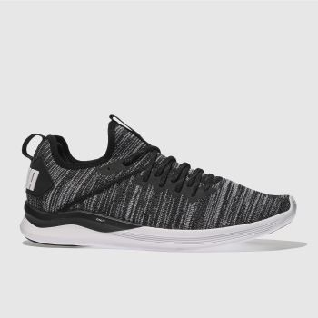 Puma Black Ignite Flash Evoknit Mens Trainers