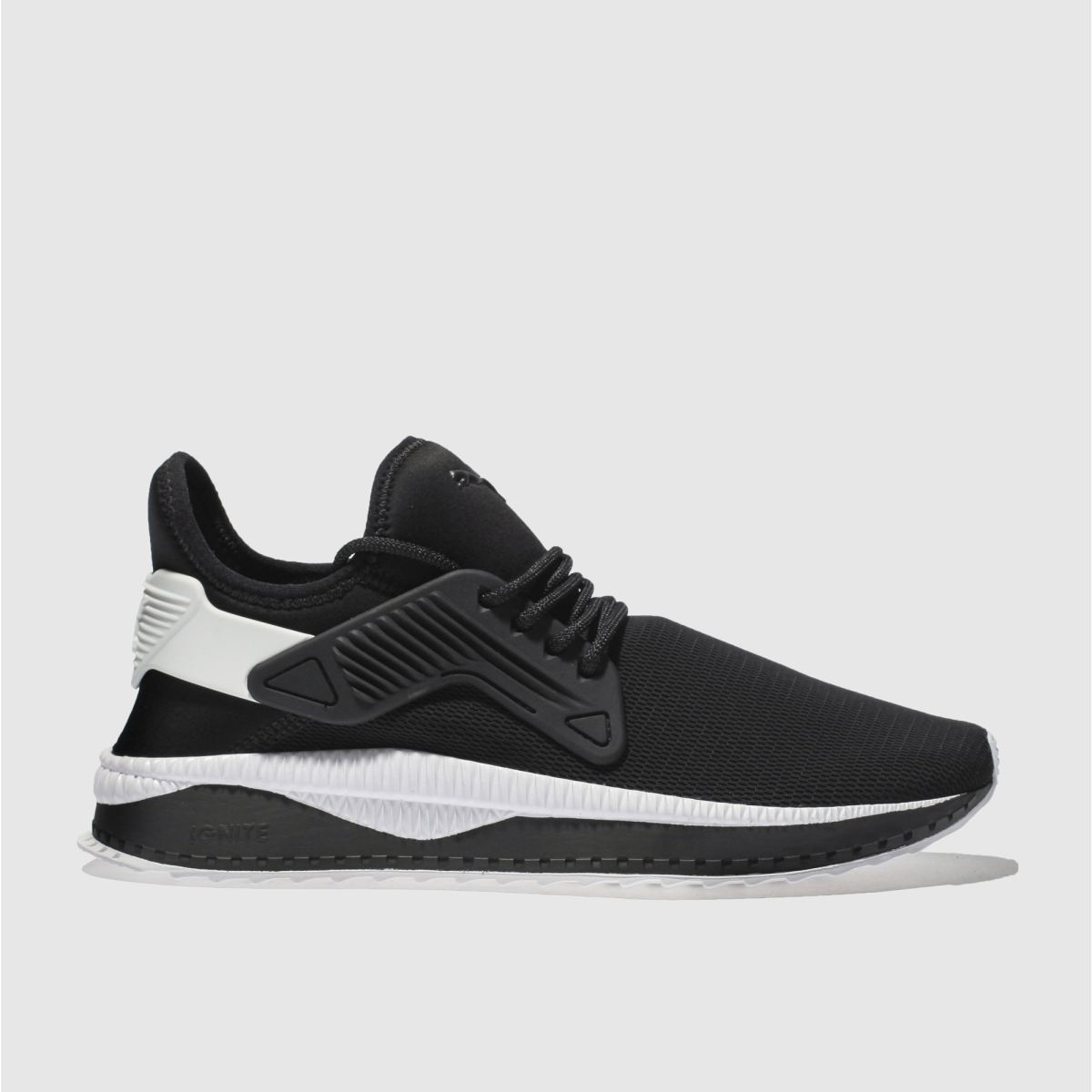 Puma Black & White Tsugi Cage Trainers