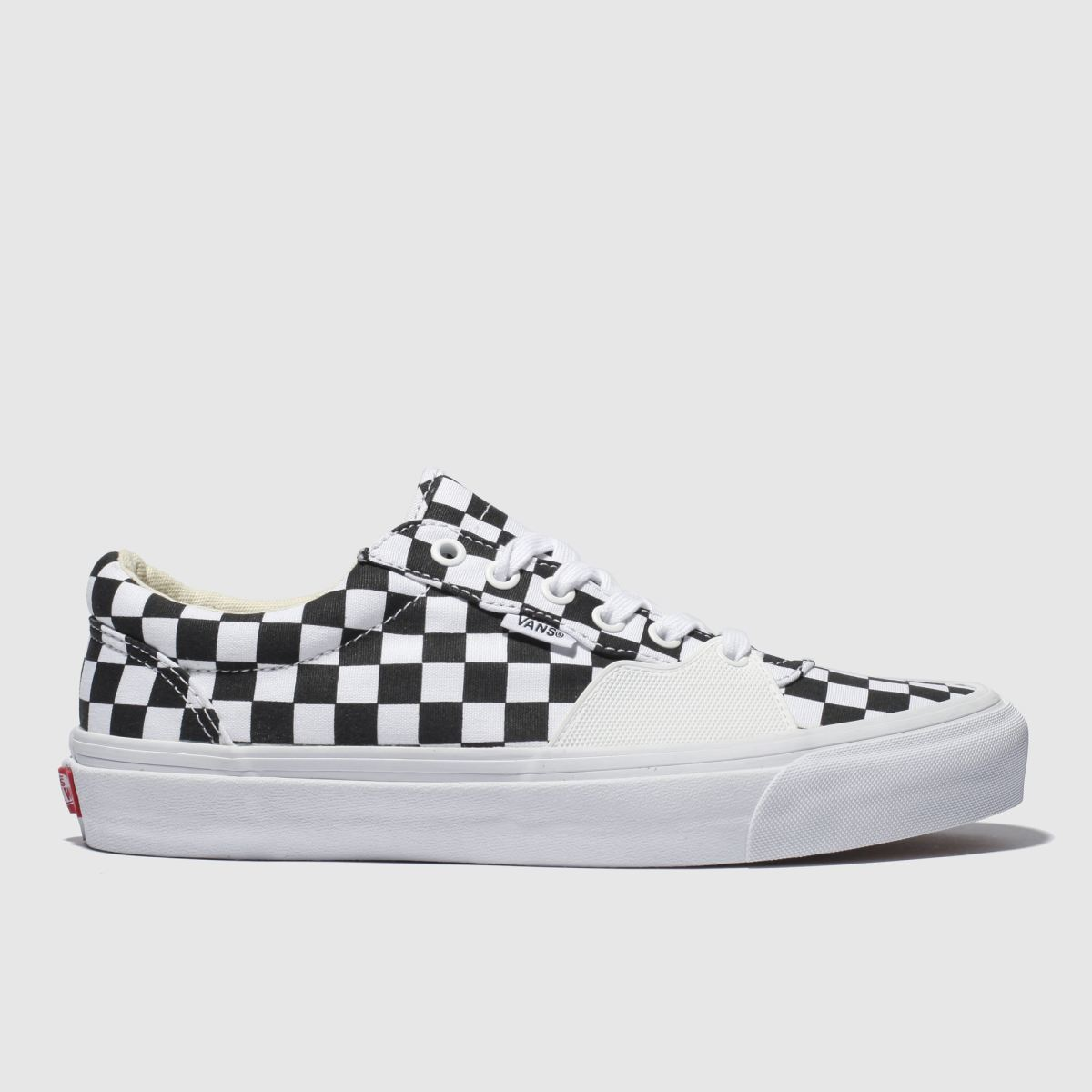 Vans White & Black Style 205 Trainers