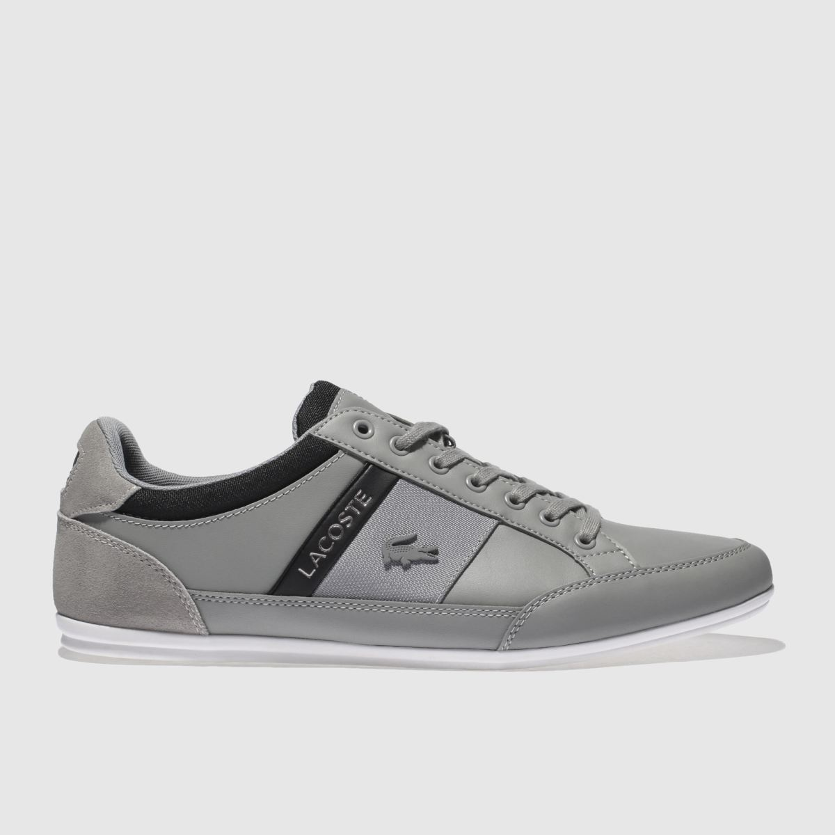 Lacoste Grey & Black Chaymon Trainers