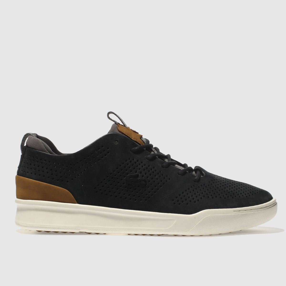 Lacoste Black & Grey Explorateur Craft Trainers