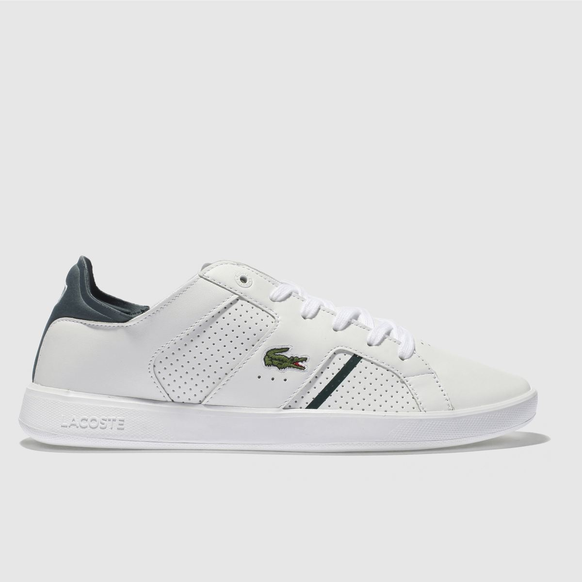 Lacoste White & Green Novas Ct Trainers
