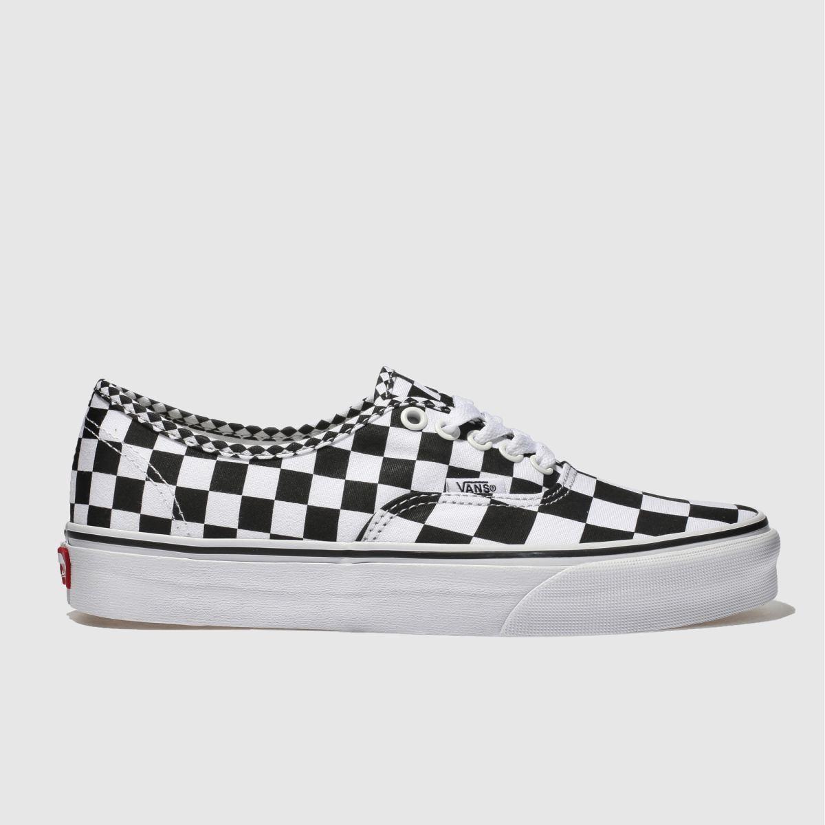 Vans White & Black Authentic Mix Checker Trainers