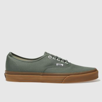 Vans Green Authentic Mens Trainers