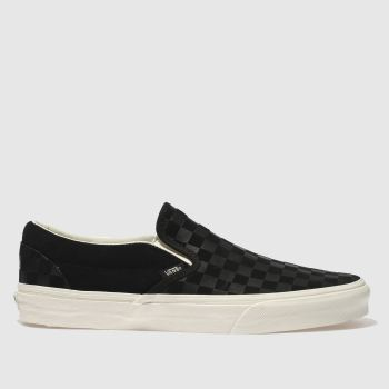 Vans Black Classic Slip-On Checker Mens Trainers