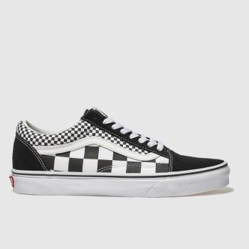Vans Black Old Skool Mix Checker Mens Trainers