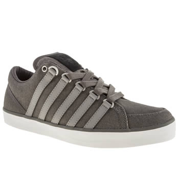 Mens K-Swiss Grey Gowmet Ii Trainers