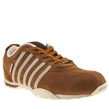 mens k-swiss tan arvee 1-5 trainers