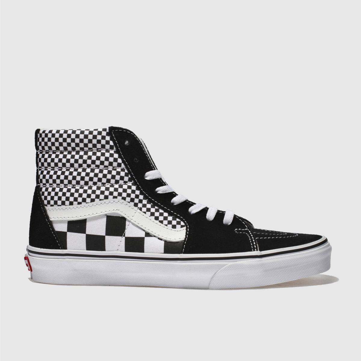 Vans Black & White Sk8-hi Mix Checker Trainers