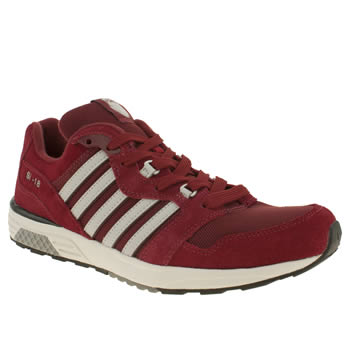mens k-swiss burgundy si 18 rannell 2 trainers