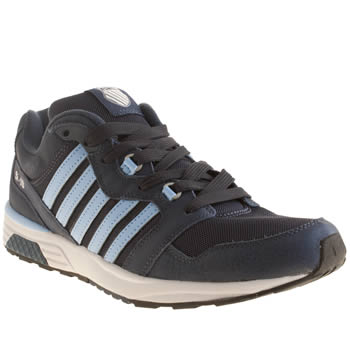 Mens K-Swiss Navy & Pl Blue Si-18 Rannell 2 Trainers