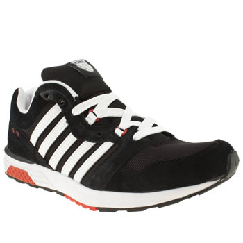 mens k-swiss black & white si-18 rannell 2 trainers