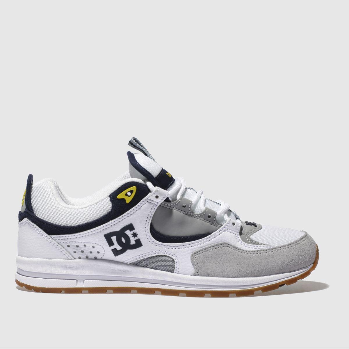 dc shoes Dc Shoes White & Grey Kalis Lite Trainers