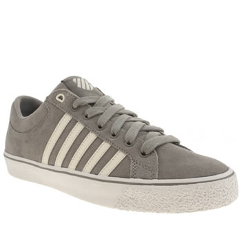 K-Swiss Grey & White Adcourt La Trainers