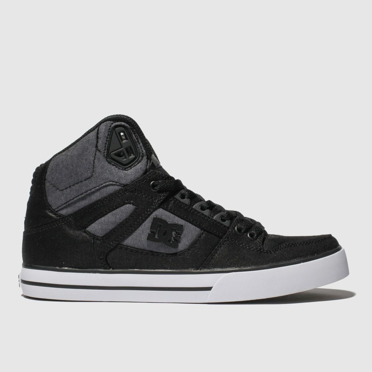 Dc Shoes Black & White Pure High-top Wc Tx Se Trainers