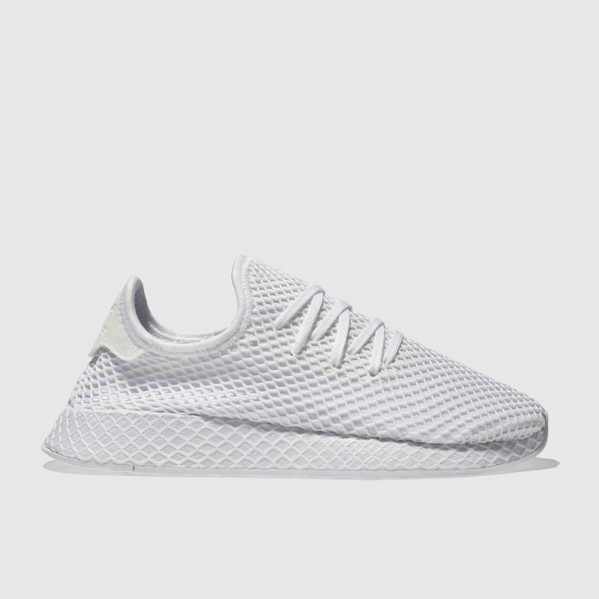 Adidas White Deerupt Runner Trainers