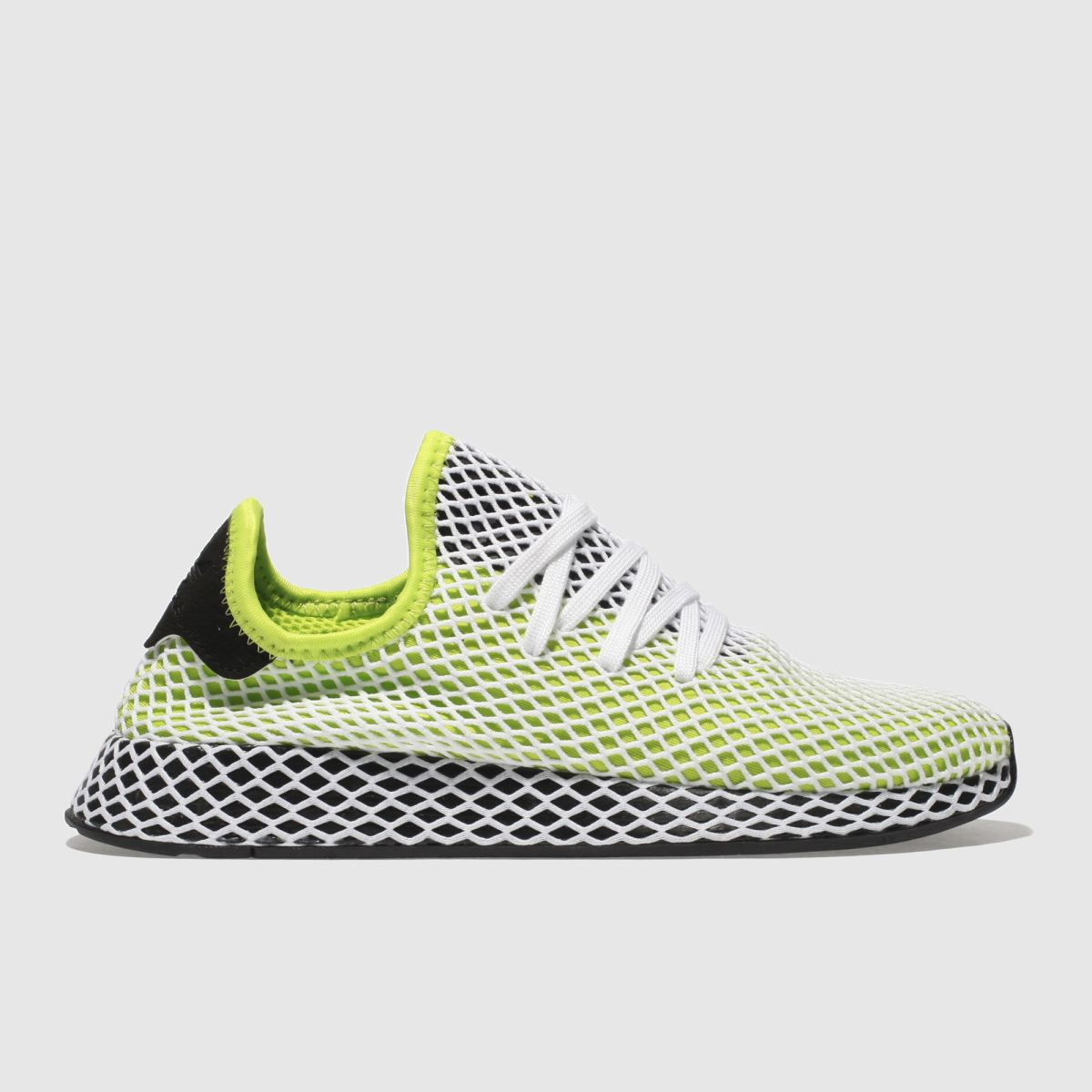 Adidas Lime Deerupt Runner Trainers