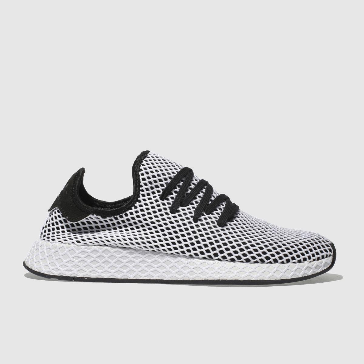 Adidas Black & White Deerupt Runner Trainers
