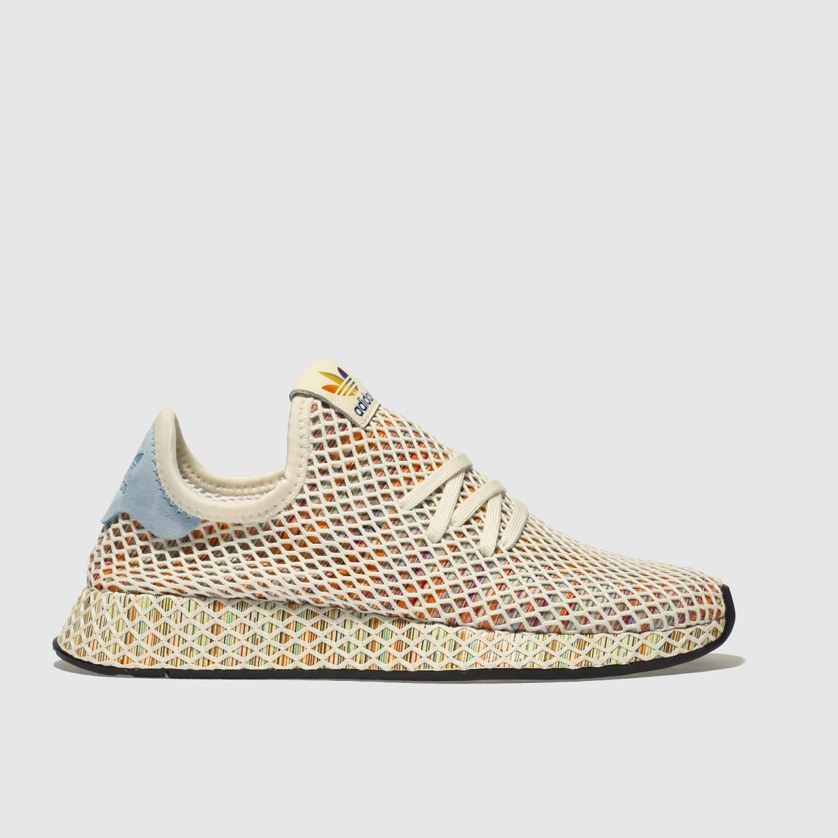 Adidas Stone & Pale Blue Deerupt Pride Trainers