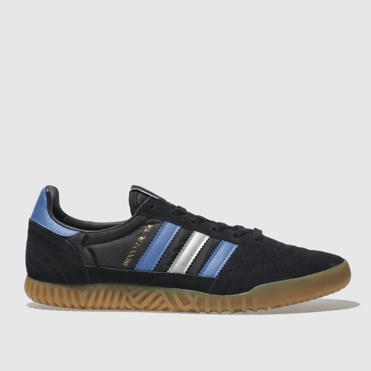 Adidas Black And Blue Indoor Super Trainers