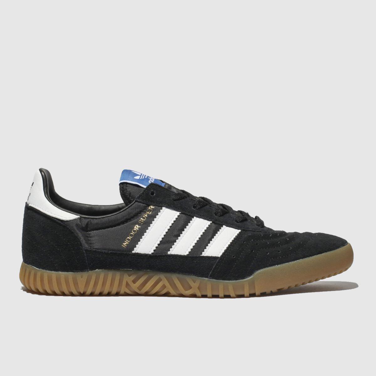 Adidas Black & White Indoor Super Trainers