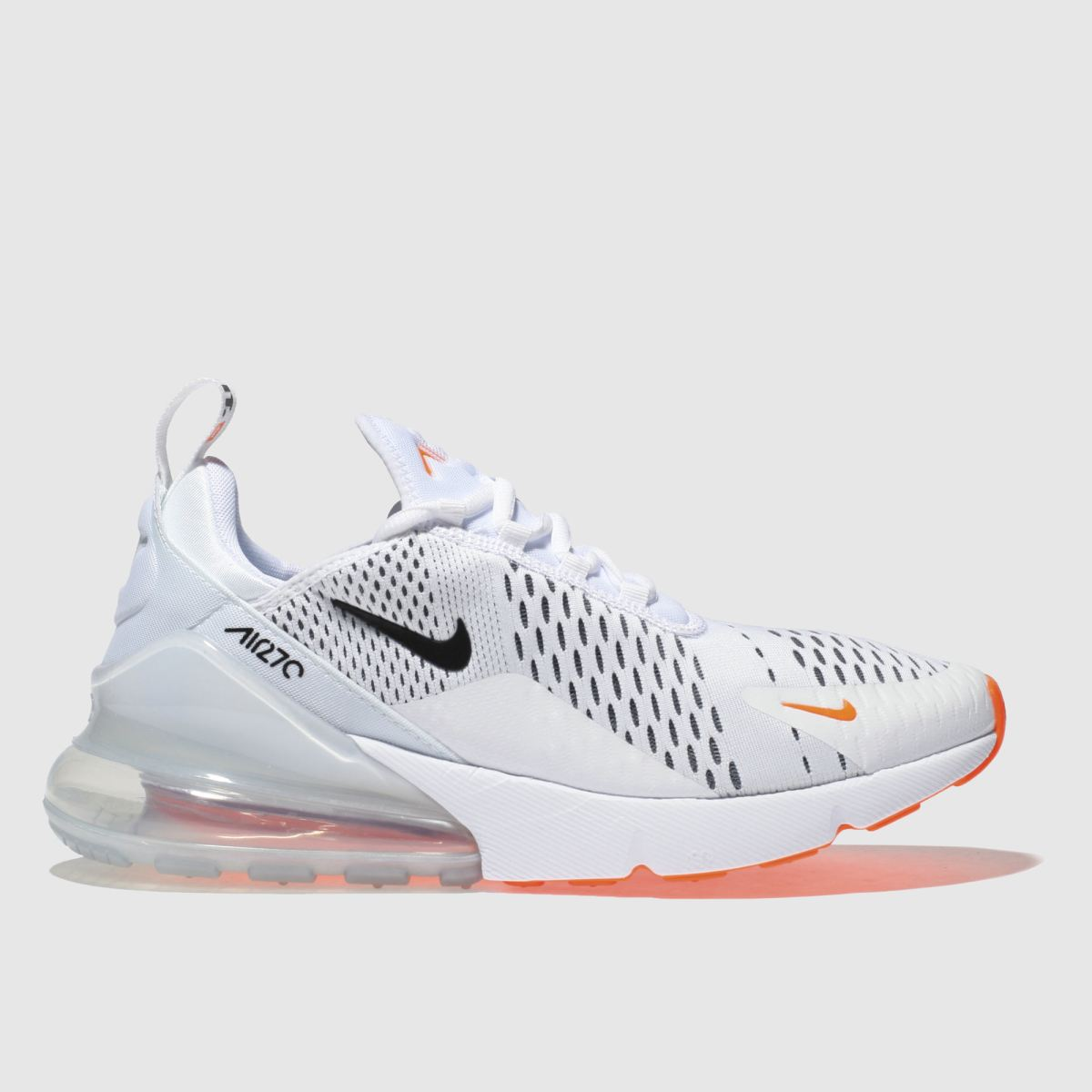 Nike White & Orange Air Max 270 Jdi Trainers