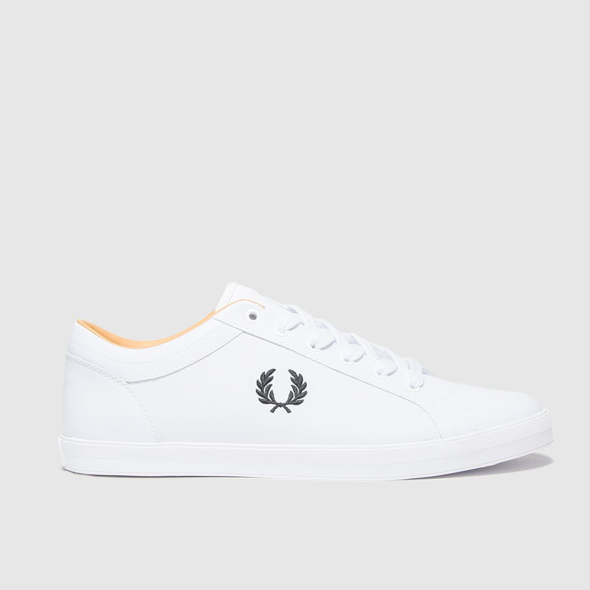Fred Perry White Baseline Leather Trainers