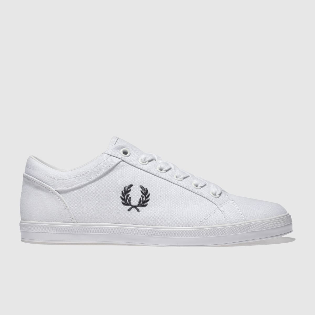 Fred Perry White Baseline Pique Trainers