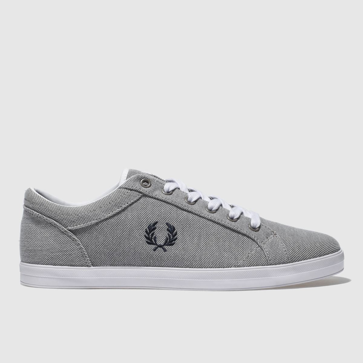 Fred Perry Light Grey Baseline Pique Trainers