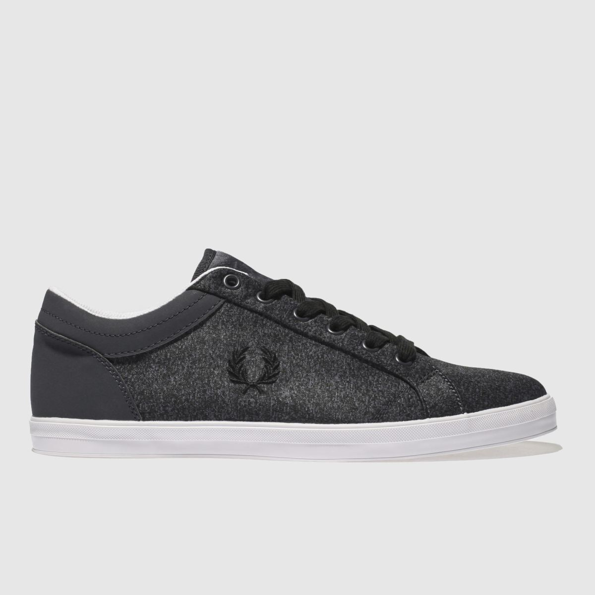 Fred Perry Dark Grey Baseline Bonded Trainers