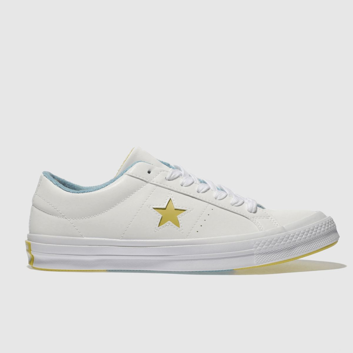 Converse White & Yellow One Star Ox Trainers