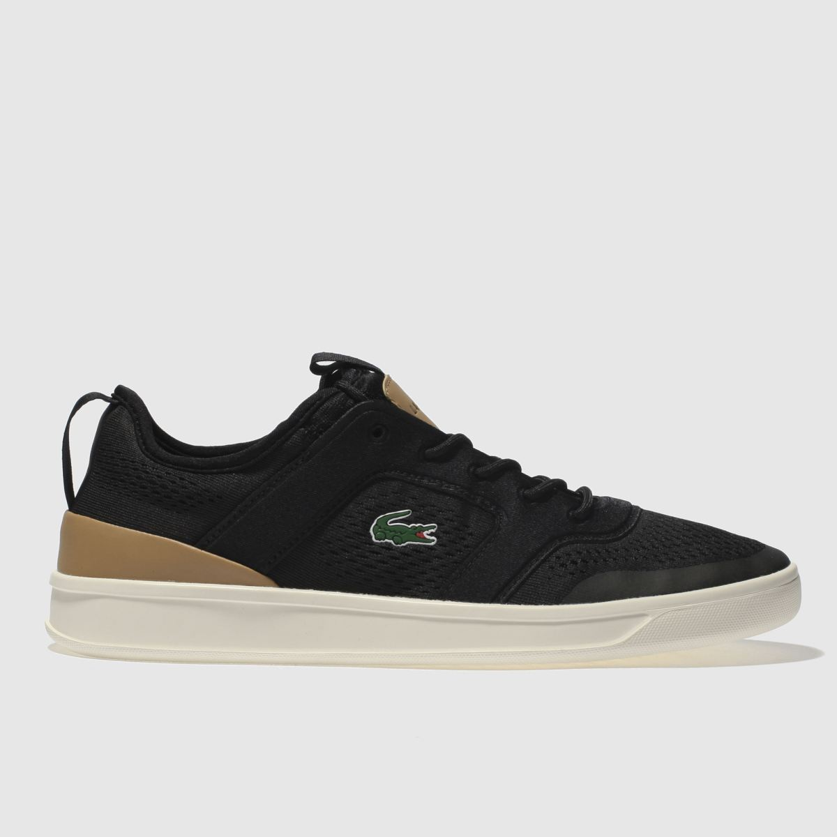 Lacoste Black & Brown Explorateur Light Trainers