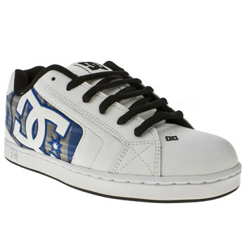 Mens Dc Shoes White Net Se Trainers