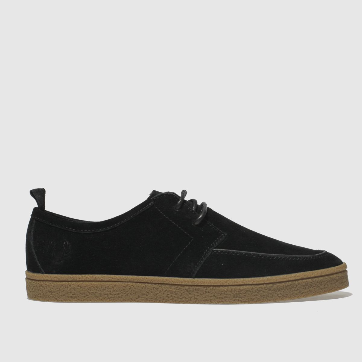 Fred Perry Black Shields Suede Crepe Trainers
