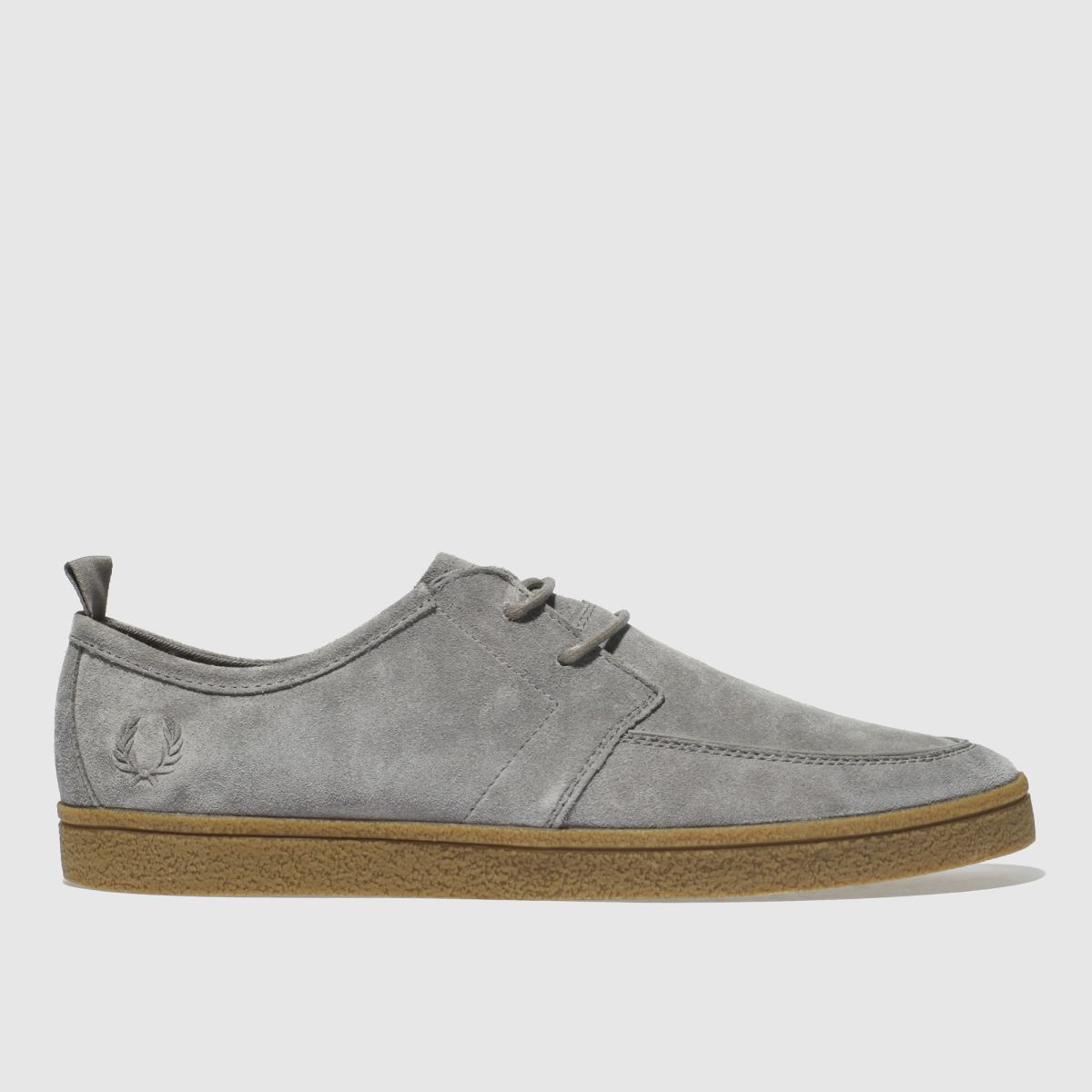Fred Perry Grey Shields Suede Crepe Trainers