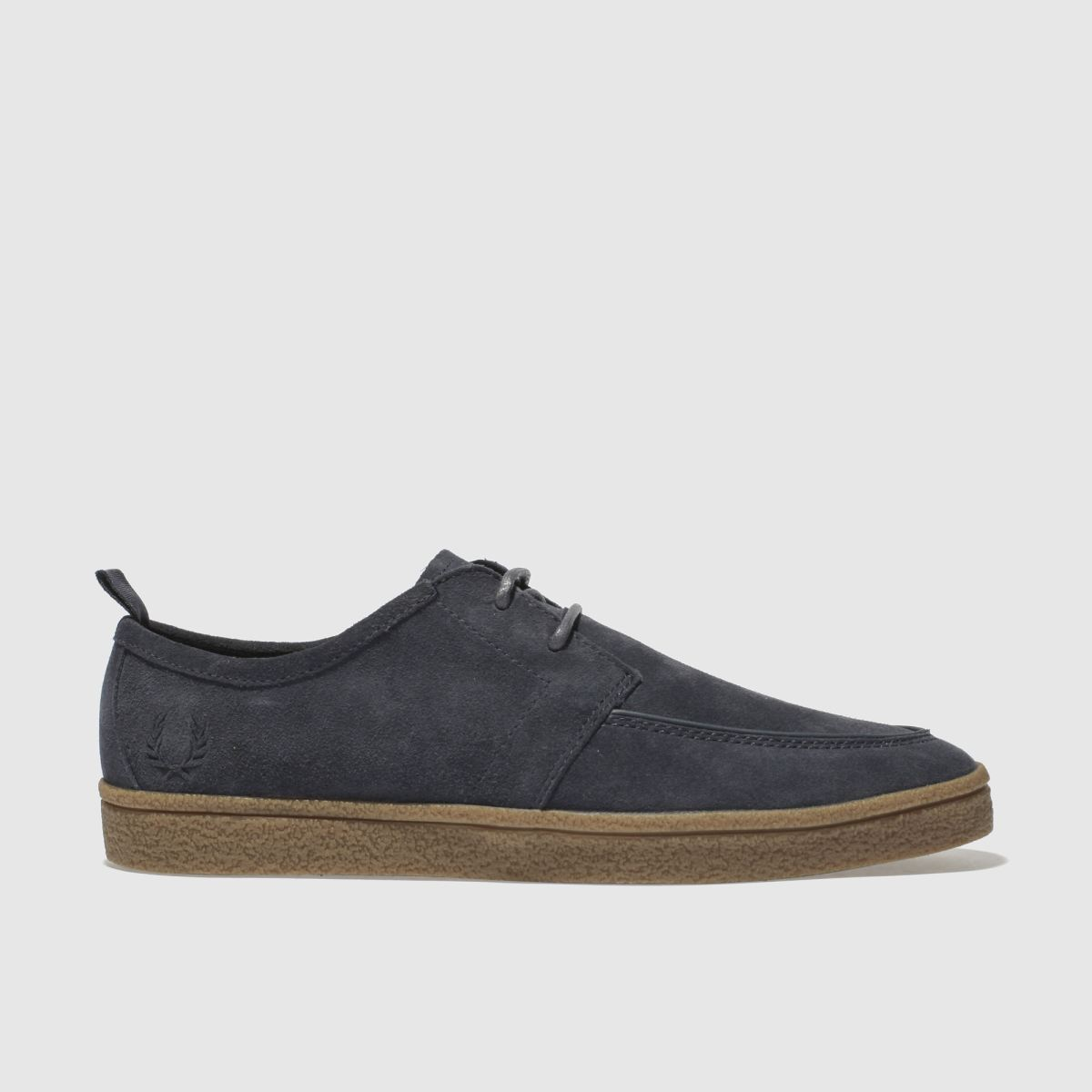 Fred Perry Dark Grey Shields Suede Crepe Shoes