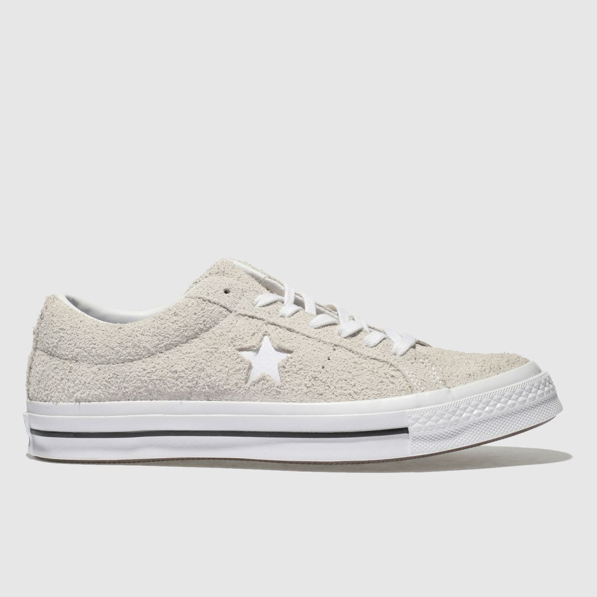 Converse White One Star Ox Vintage Suede Trainers