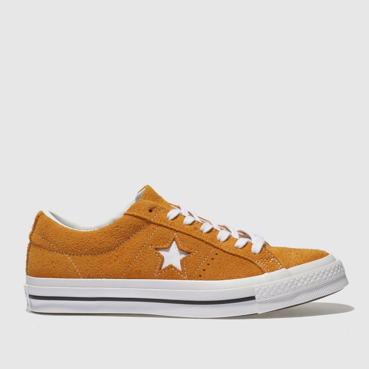 Converse Orange One Star Ox Vintage Suede Trainers