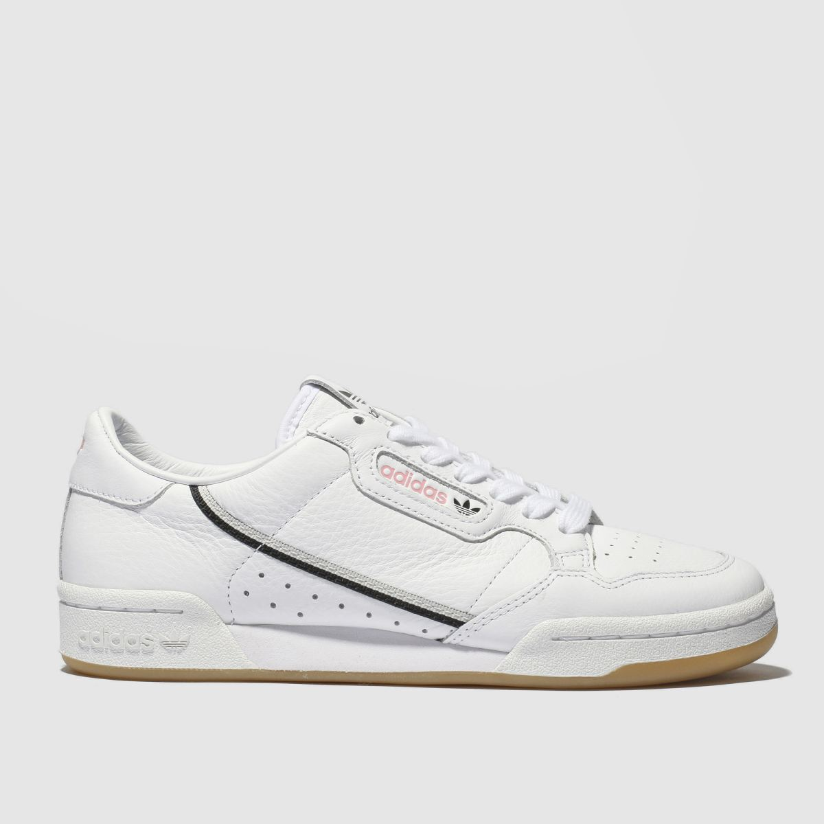 Adidas White & Pink Continental 80 X Tfl Trainers