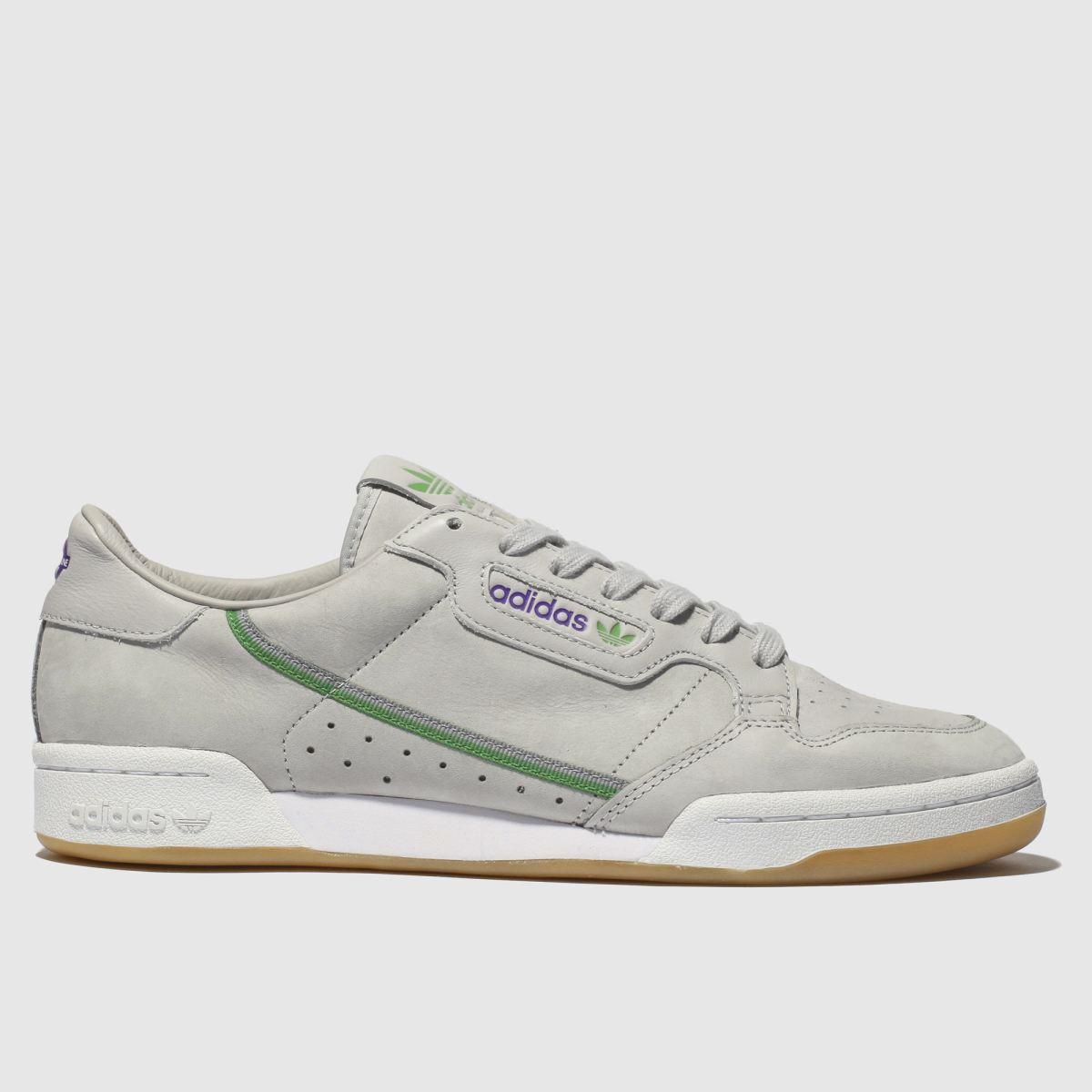 Adidas Light Grey Continental 80 X Tfl Trainers