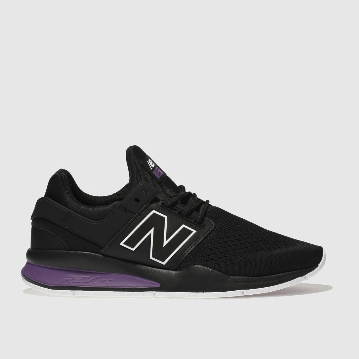 New Balance Black & Purple 247 V2 Trainers