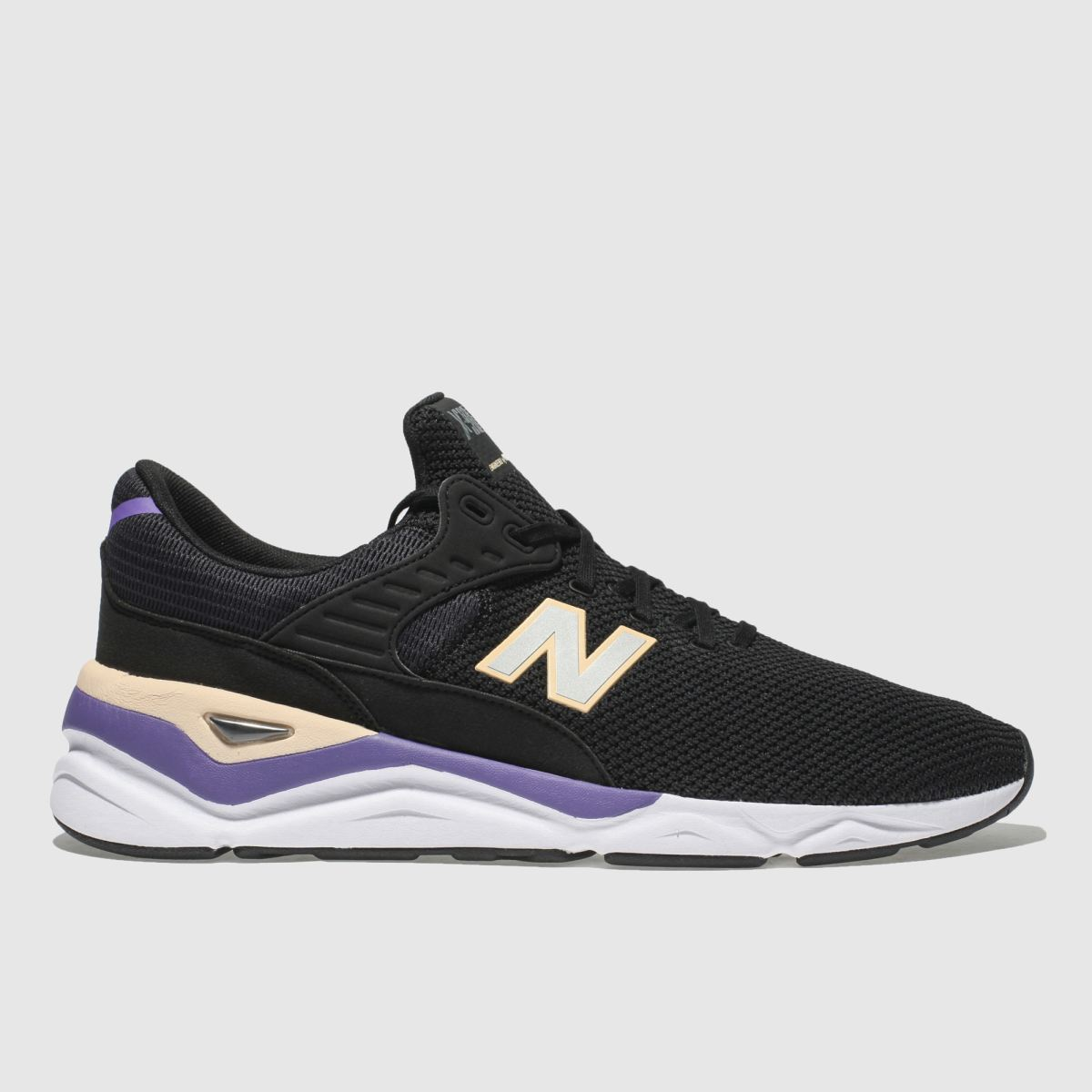 New Balance Black & Purple X-90 Trainers