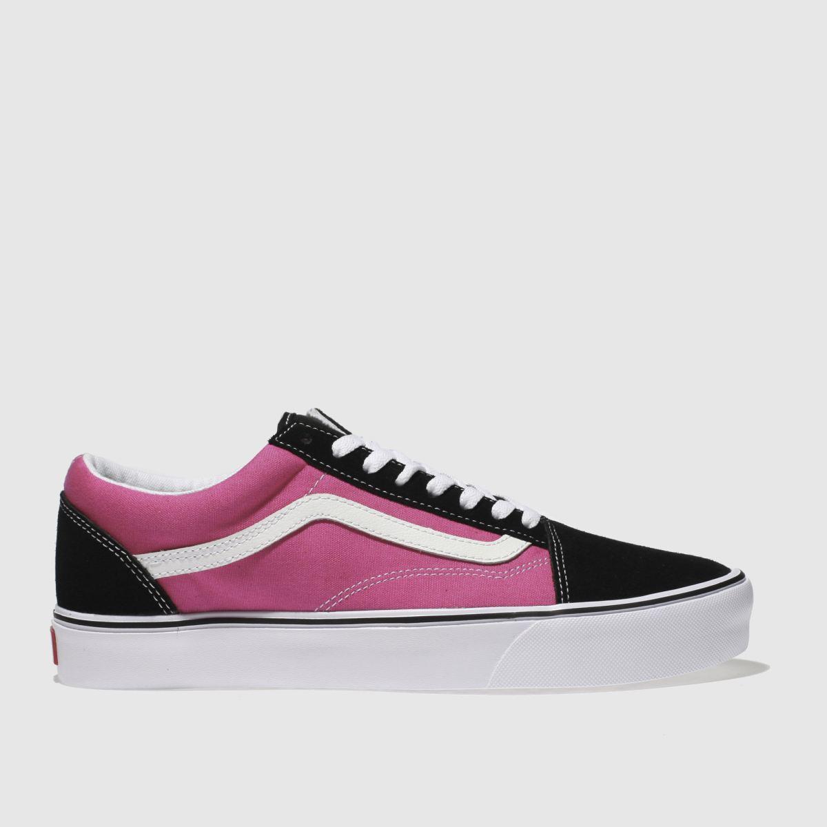 Vans Black & Pink Old Skool Lite Trainers