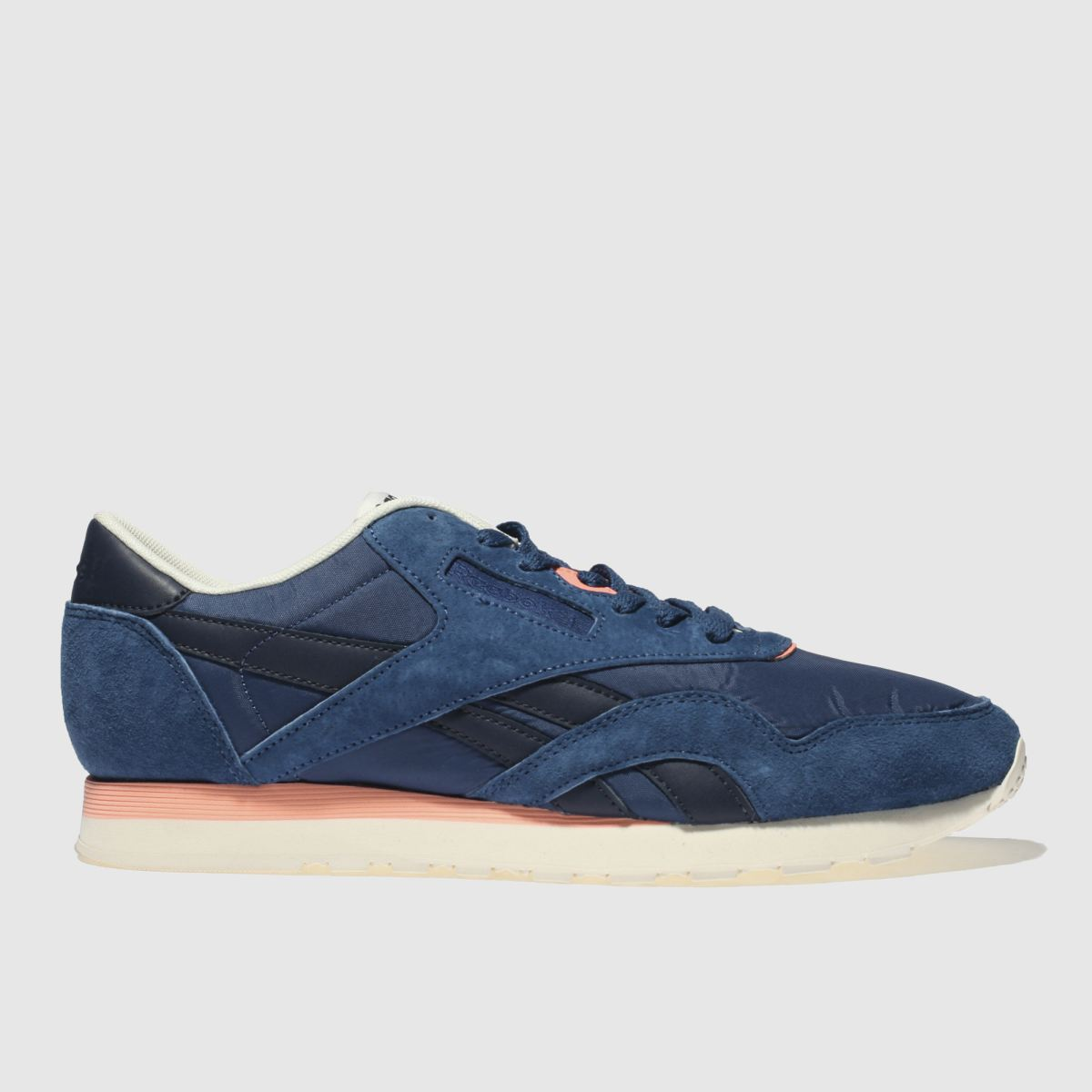 Reebok Navy Classic Nylon Retro Trainers