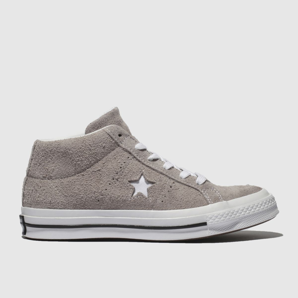 Converse Grey One Star Mid Trainers