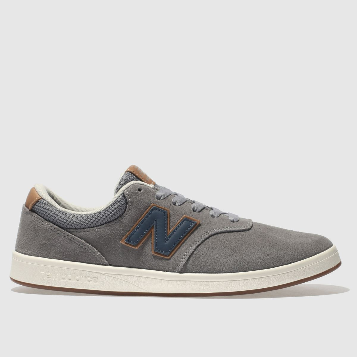 New Balance Grey & Navy All Coasts 424 Trainers