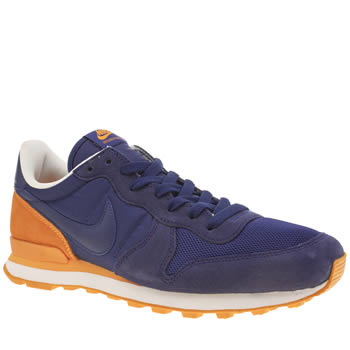 Nike Navy & Orange Internationalist Trainers