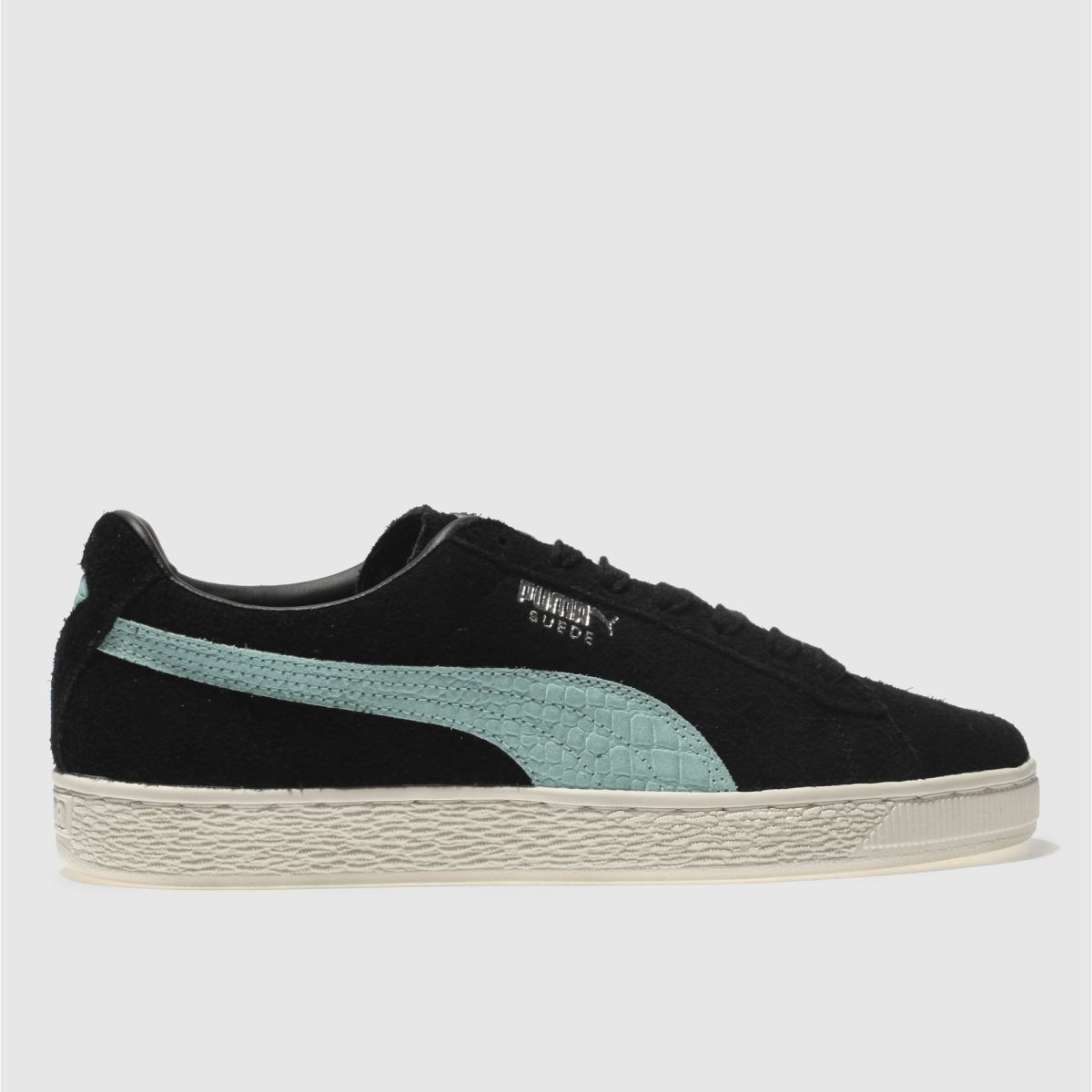 Puma Black And Blue Suede Diamond Trainers
