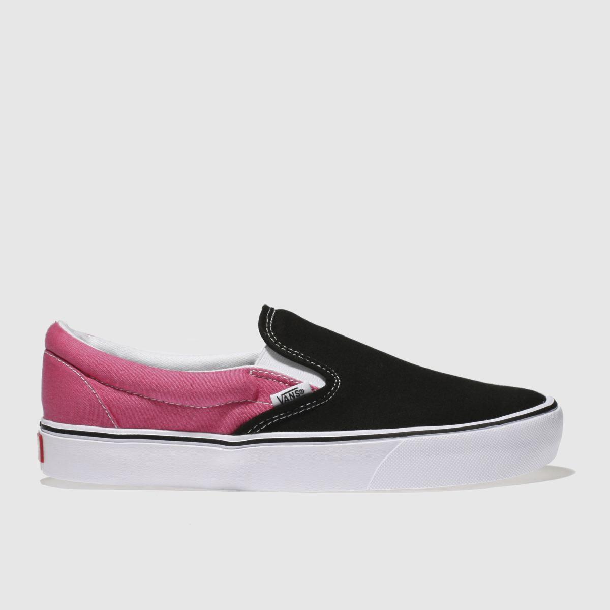 Vans Black & Pink Slip-on Lite Trainers